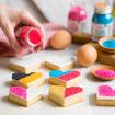 Immagine di Zucchero Glitterato 100 grammi Giallo