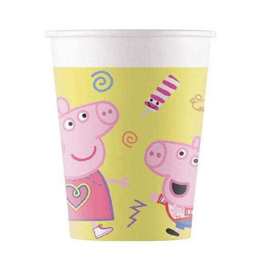 Immagine di Bicchieri in carta 200 ml Peppa Pig Messy 8 pz