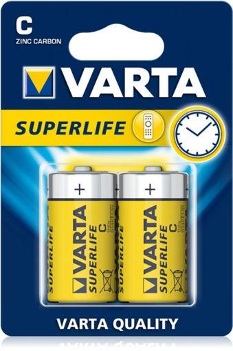 Immagine di 2 Batterie Mezza Torcia C -  Varta Superlife