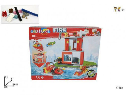 Immagine di Costruzioni Pompieri 178 pezzi