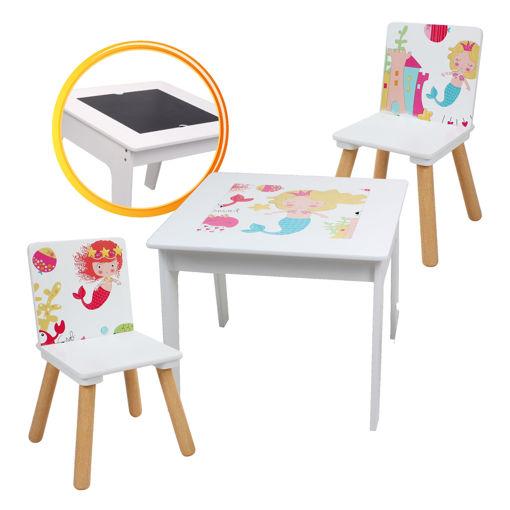 Immagine di Tavolino in Legno Sirena con sedie