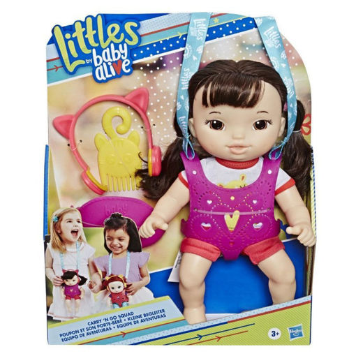 Immagine di Bambola Baby Alive Little Carry and Go Squad castana