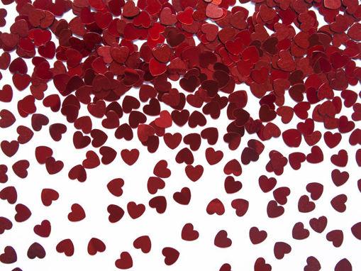 Immagine di Confetti da tavolo a forma di Cuore rosso 30 grammi