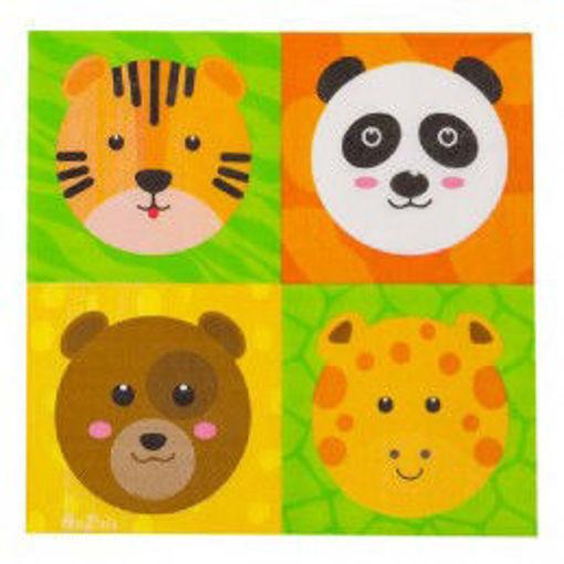 Tovaglioli in carta Zoo Party