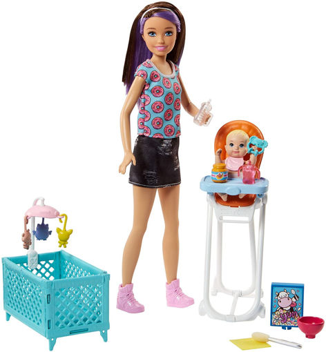 toys one Barbie Babysitter Pappa e Culla