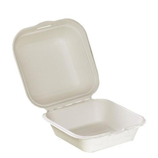 50 Contenitori richiudibili in polpa di cellulosa porta Hamburger da 450 ml