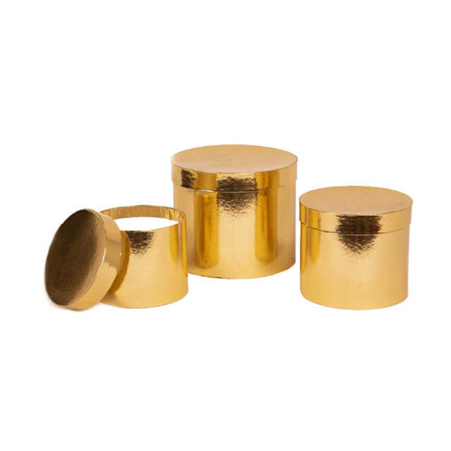 Scatola Tondo Oro 20x17 cm