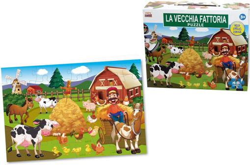 Puzzle gigante 48 pezzi Animali Fattoria