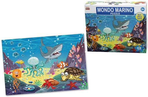 Puzzle gigante 48 pezzi Animali Marini