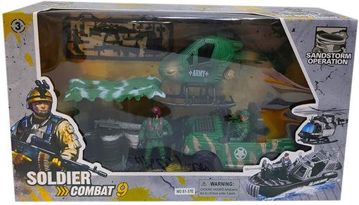 Soldier Combat Militari playset e veicol