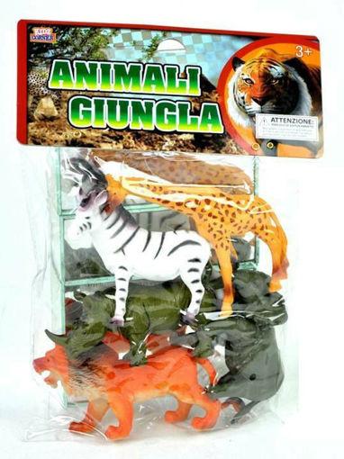 Animali Savana in busta media da 5 pezzi