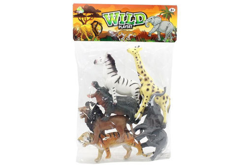 Animali Zoo in busta gigante da 6 pezzi