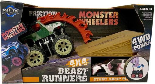 Auto Monster 4WD con rampa