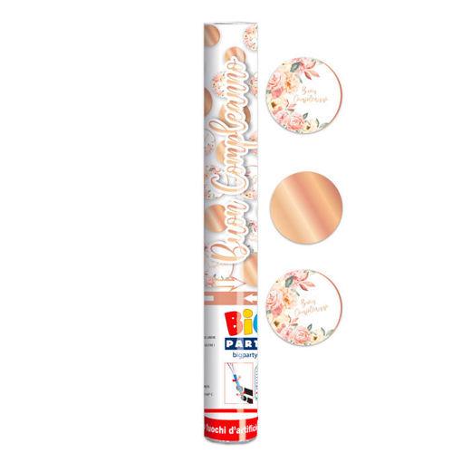 Cannon Sparacoriandoli 30 cm Buon Compleanno Rose Gold
