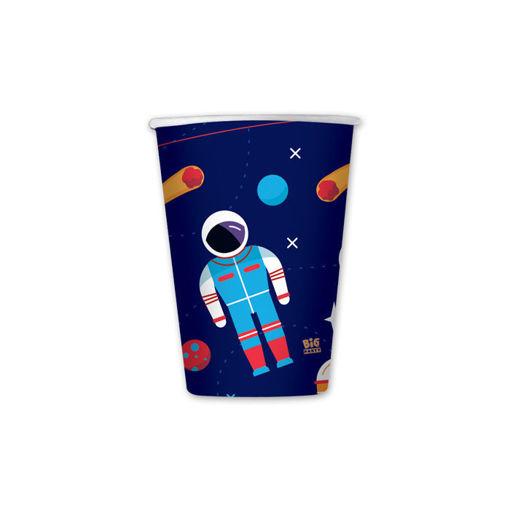 Bicchieri in carta 200 cc Astronauta 8 pezzi