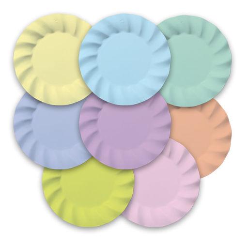 Piatti 20 cm Wavy Soft Rainbow 8 pezzi