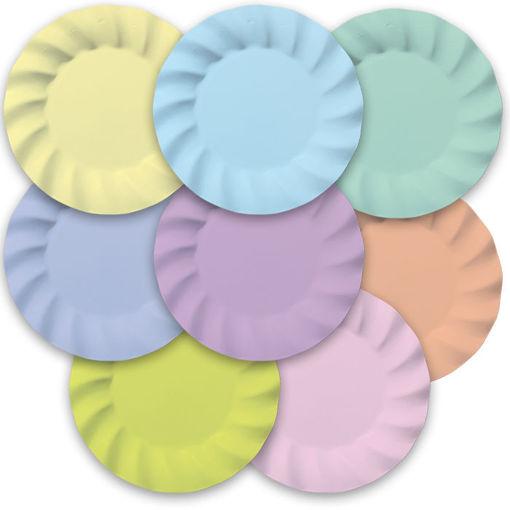 Piatti 25 cm Wavy Soft Rainbow 8 pezzi