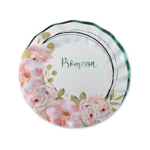 Piatti in carta 20 cm Promessa Floral 8 pezzi