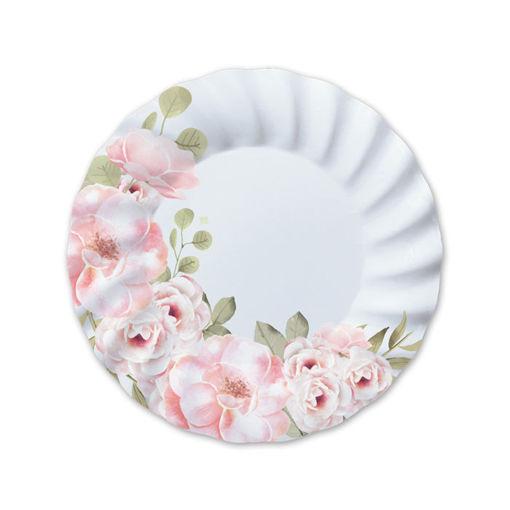 Piatti in carta 25 cm Floral 8 pezzi