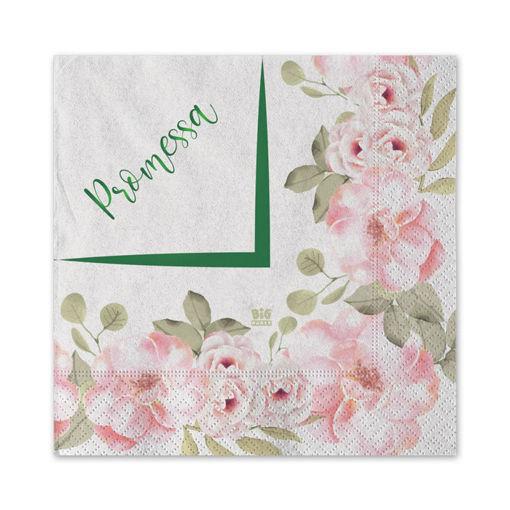 Tovaglioli 25x25 cm Promessa Floral 20 pezzi