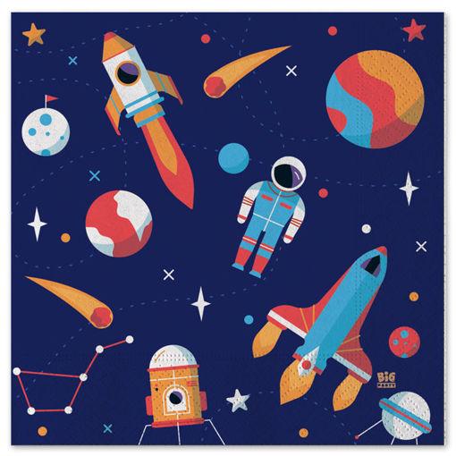 Tovaglioli 33x33 cm Astronauta 20 pezzi