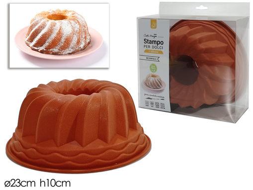 Stampo in Silicone a forma Tonda Ondulata con buco diametro 23 cm altezza 10 cm