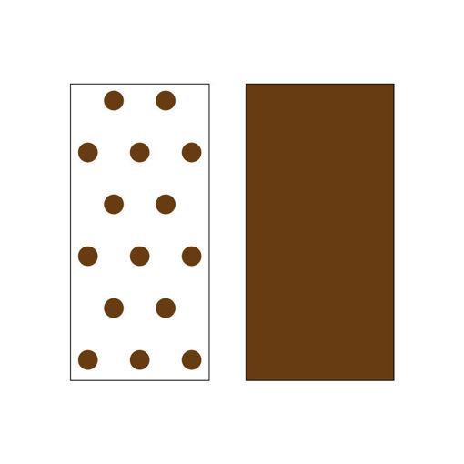 100 Cartine per Cartucce Napoletane Marrone e Bianco 10x6 cm