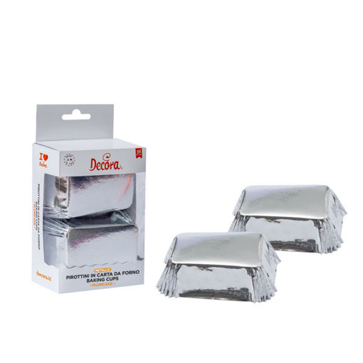 20 Pirottini Plum Cake 80x50x32 mm Argento