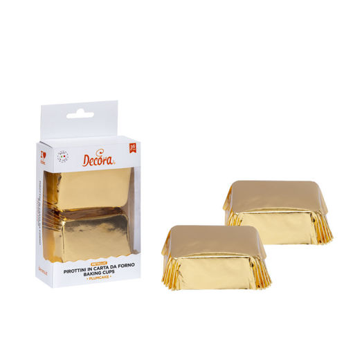 20 Pirottini Plum Cake 80x50x32 mm Oro