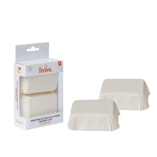 36 Pirottini Plum Cake 80x50x32 mm Bianco