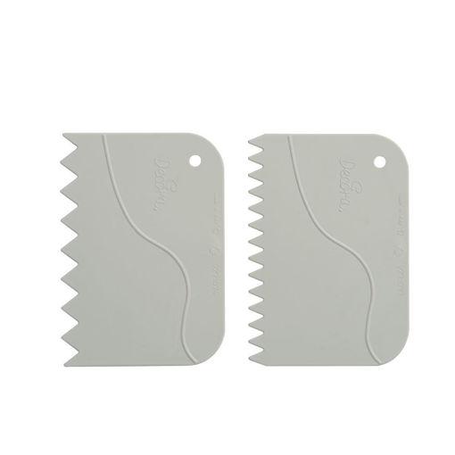 Set 2 Spatole Dentellate in plastica