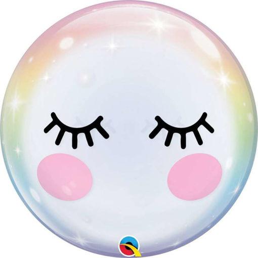 "Palloncino Qualetex 22'' 56 cm - Bubbles - Ciglia ""Eyelashes"""