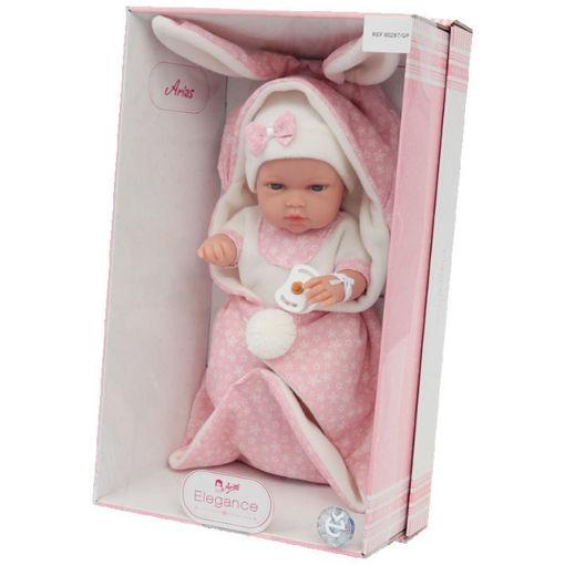 Bebè 33 cm coperta con orecchie Rosa