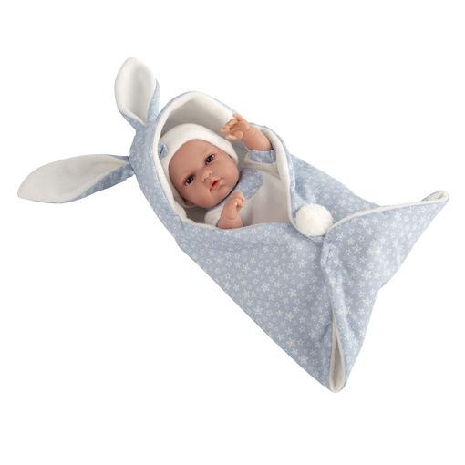 Bebè 33 cm coperta con orecchie Azzurro