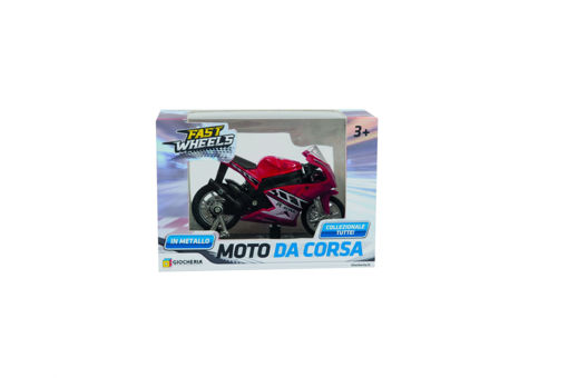 Moto da corsa in die cast con colori assortiti