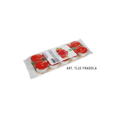 Blister Tealight Profumato Fragola 10 pezzi