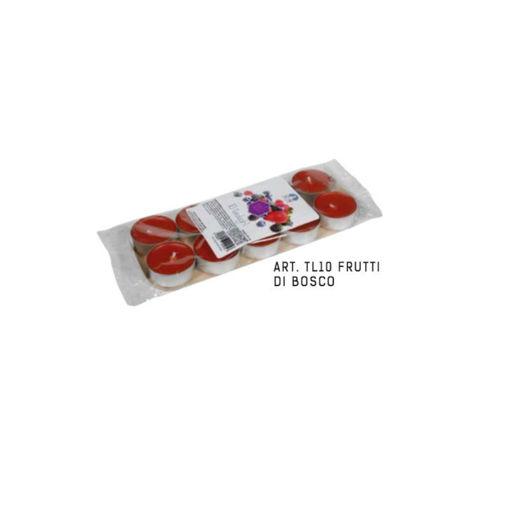 Blister Tealight Profumato Frutti di Bosco 10 pezzi