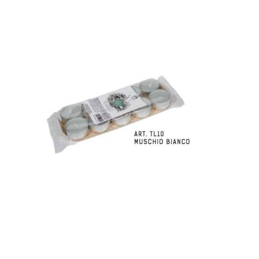 Blister Tealight Profumato Muschio Bianco 10 pezzi