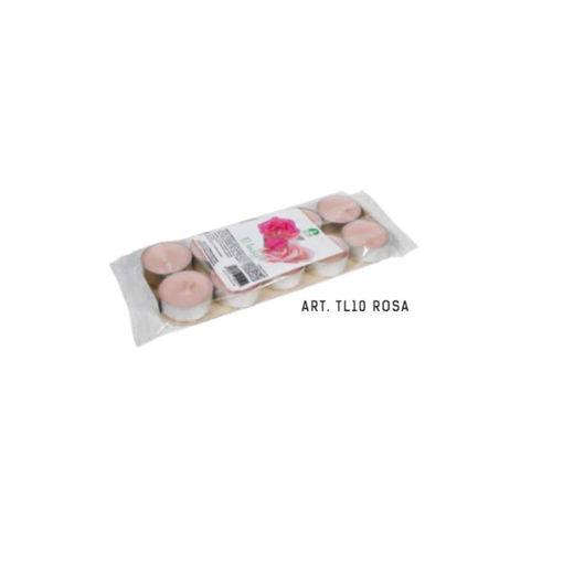 Blister Tealight Profumato Rosa 10 pezzi
