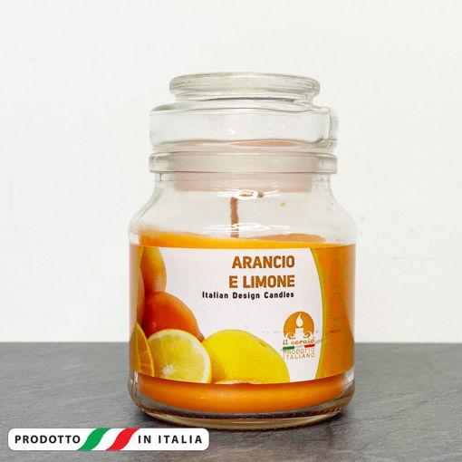 Giara in vetro 7x10 cm con Candela profumata Arancia e Limone