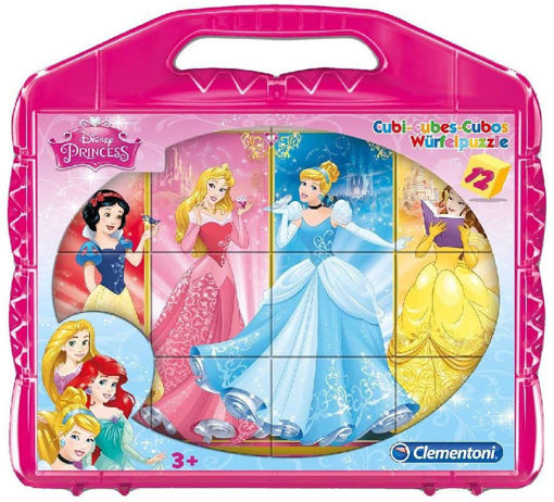 Clementoni Valigetta 12 cubi Disney Principesse