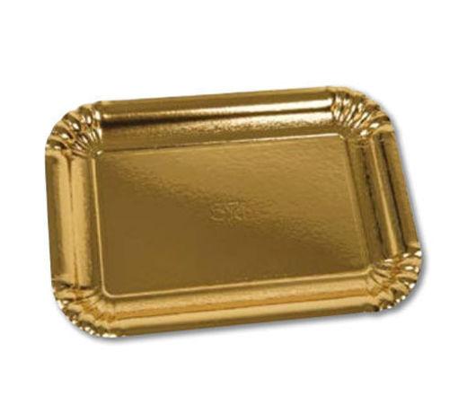 Immagine di Vassoio Rettangolare Oro misura 10 - 390x515  mm