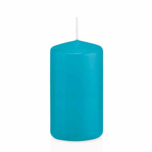 Candela Cilindro altezza 12 cm diametro 6 cm Azzurro