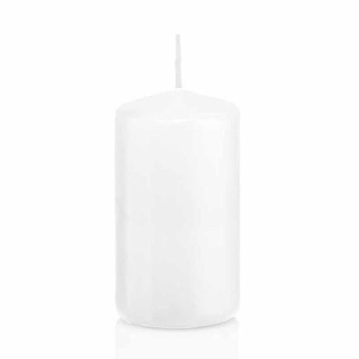 Candela Cilindro altezza 12 cm diametro 6 cm Bianco
