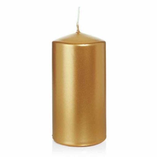 Candela Cilindro altezza 12 cm diametro 6 cm Oro