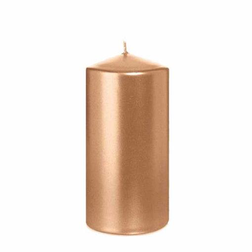 Candela Cilindro altezza 12 cm diametro 6 cm Rosa Gold