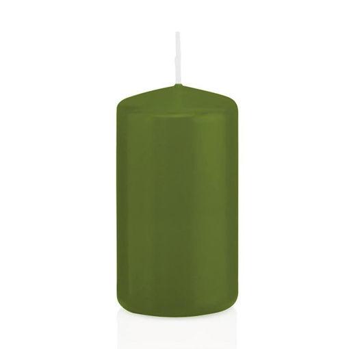 Candela Cilindro altezza 12 cm diametro 6 cm Verde Oliva