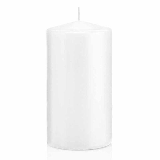 Candela Cilindro altezza 15 cm diametro 8 cm Bianco