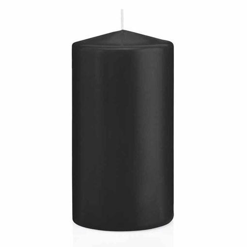 Candela Cilindro altezza 15 cm diametro 8 cm Nero