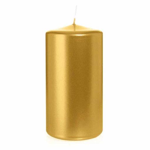 Candela Cilindro altezza 15 cm diametro 8 cm Oro